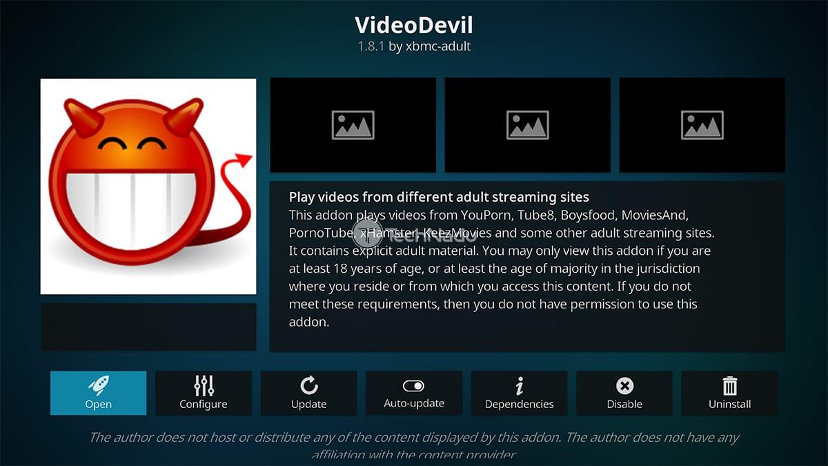 VideoDevil Kodi Porn Addon