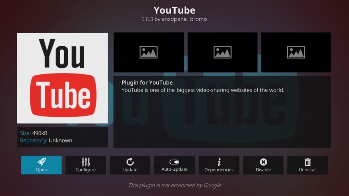 YouTube Kodi Addon Overview