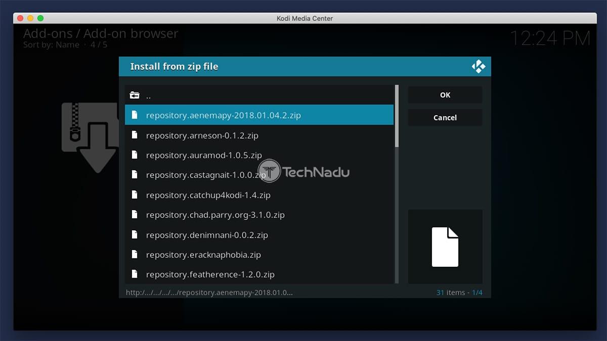 Accessing Repository ZIP File in Kodi