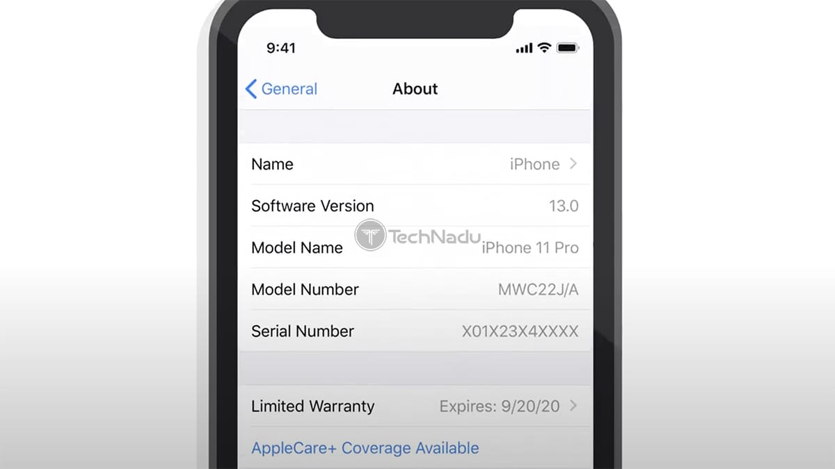 Activating AppleCare+ via iPhone Settings App