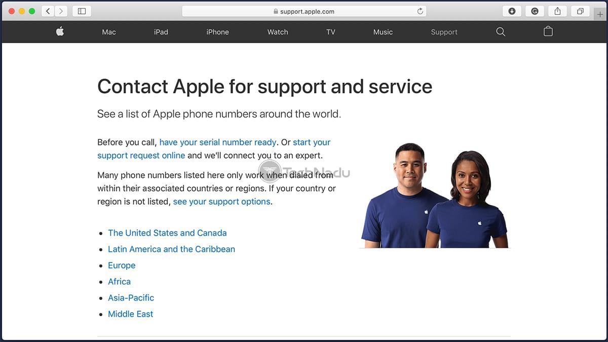 Apple Support Website
