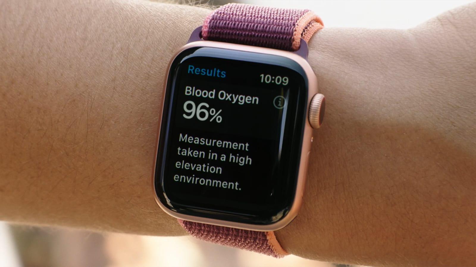 Blood Oxygen Measurements Apple Watch Series 6