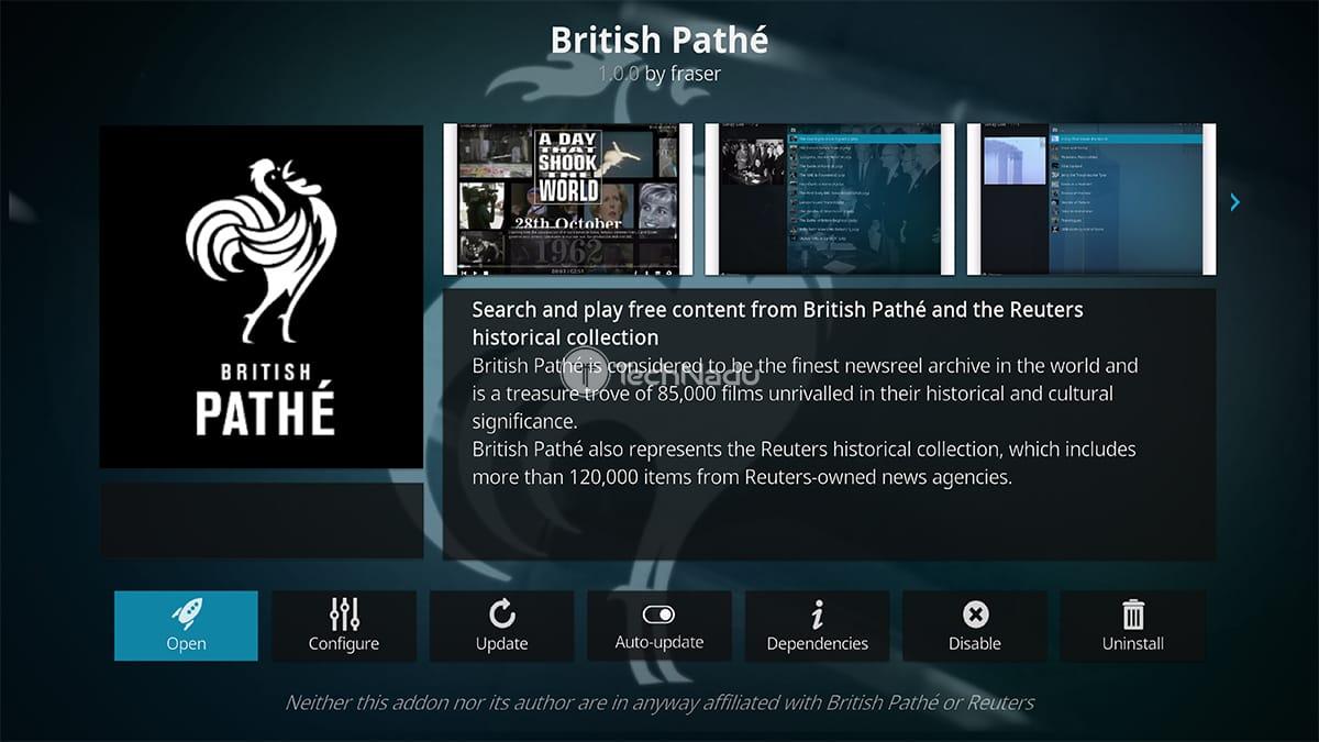 British Pate Kodi Addon