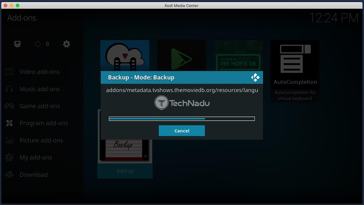 Creating Backups for Kodi