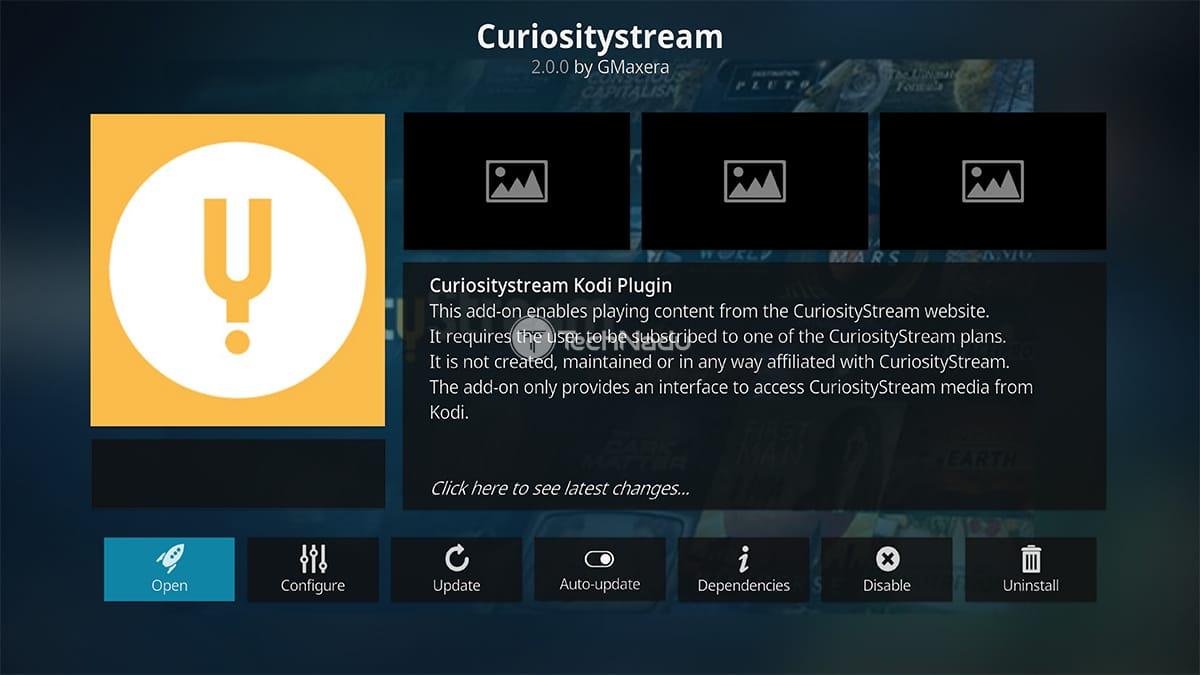 CuriosityStream Kodi Addon