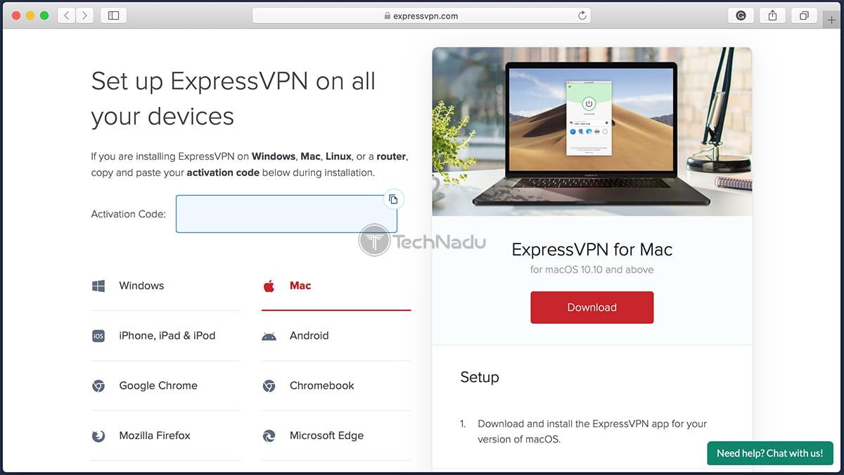 Downloading ExpressVPN on a Mac
