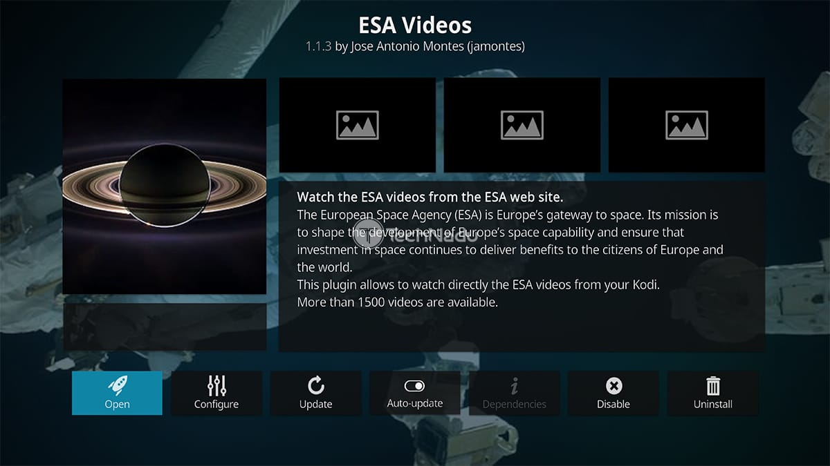 ESA Videos Kodi Addon