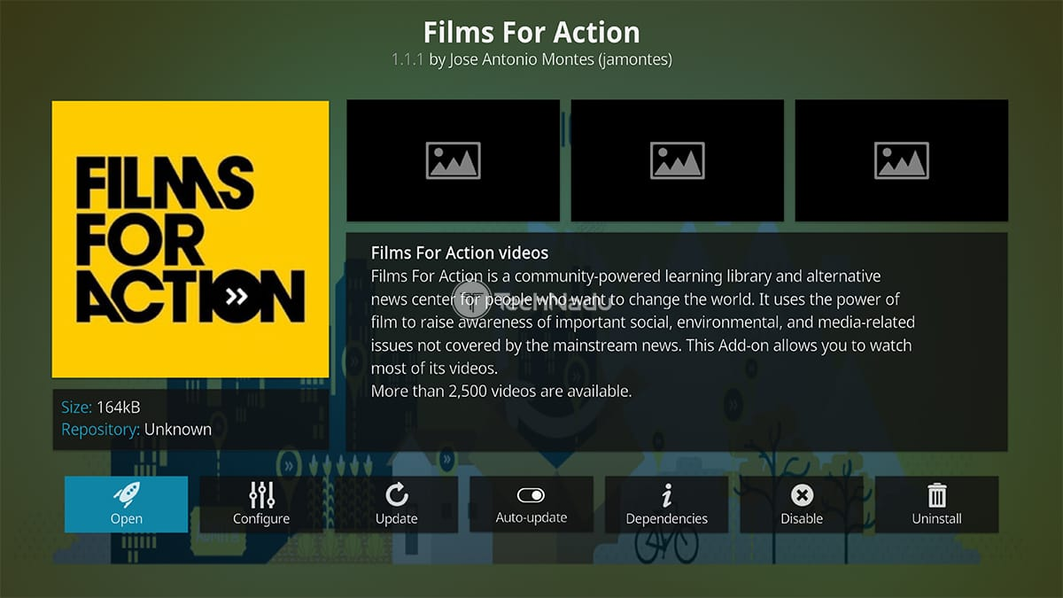 Films for Action Kodi Addon