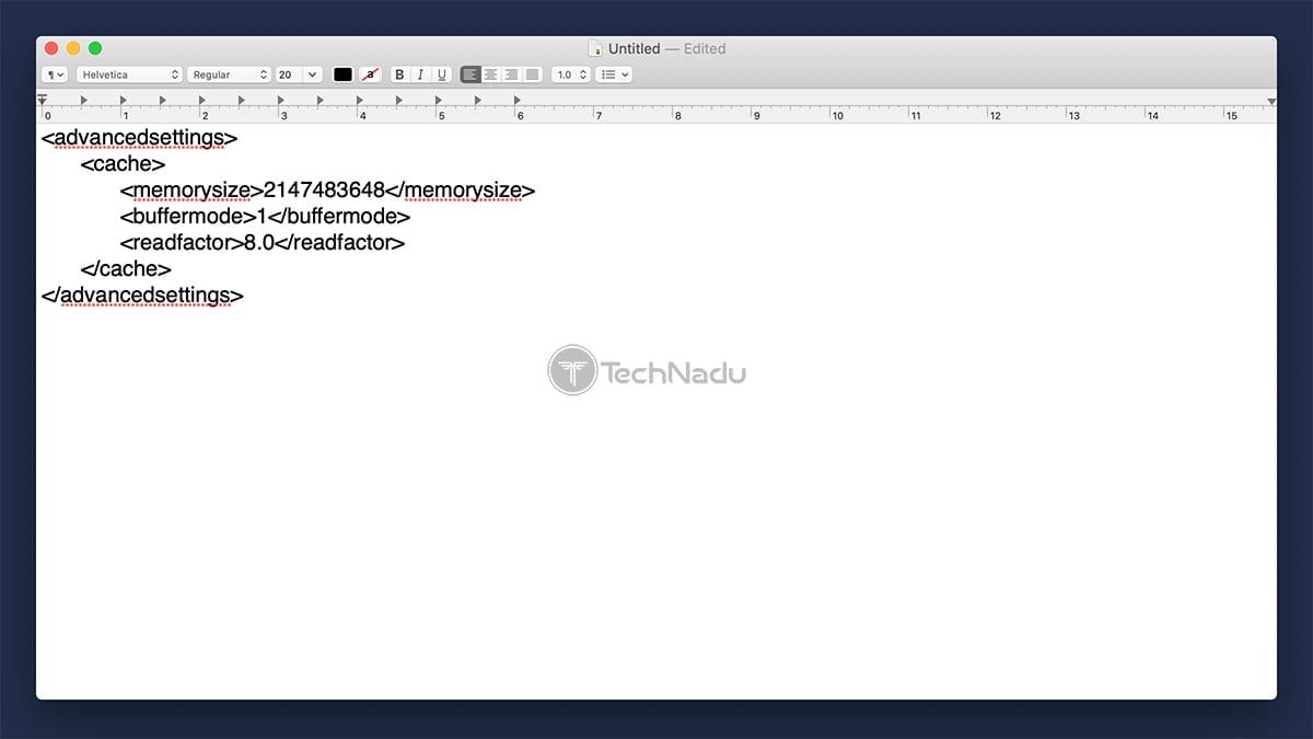 Kodi Advanced Settings XML File