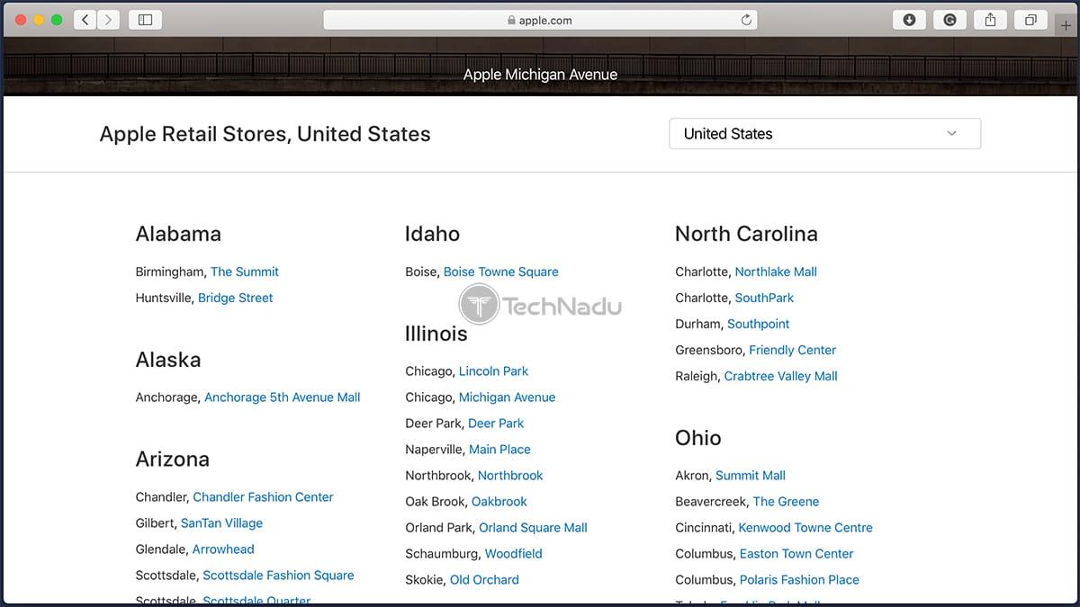 List of Apple Store Locations