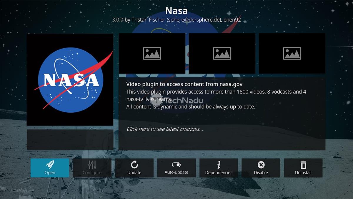 NASA Kodi Addon