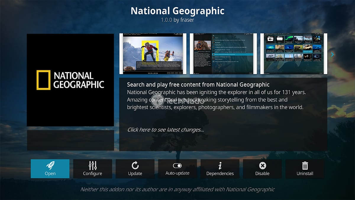 National Geographic Kodi Addon