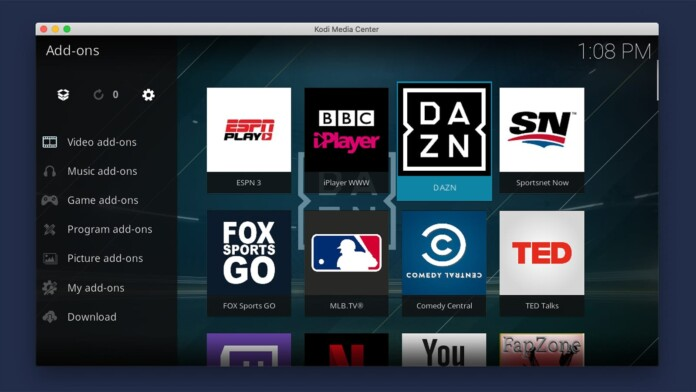Selection of Football Kodi Addons