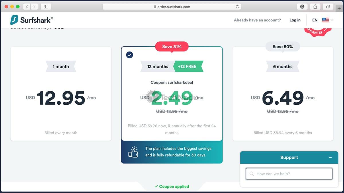 Surfshark New Pricing Plans September 2020
