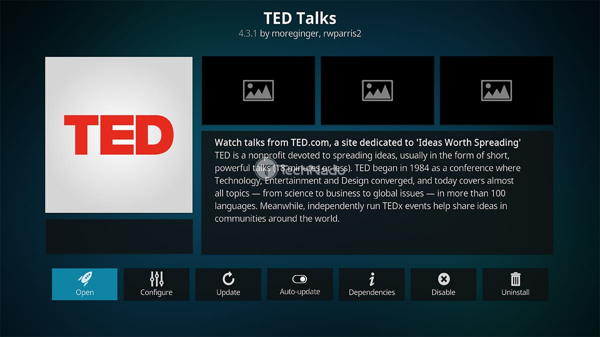TED Talks Kodi Addon
