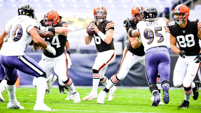 The Cleveland Browns play the Baltimore Ravens at M&T Bank Stadium in Week 1 of the 2020 season