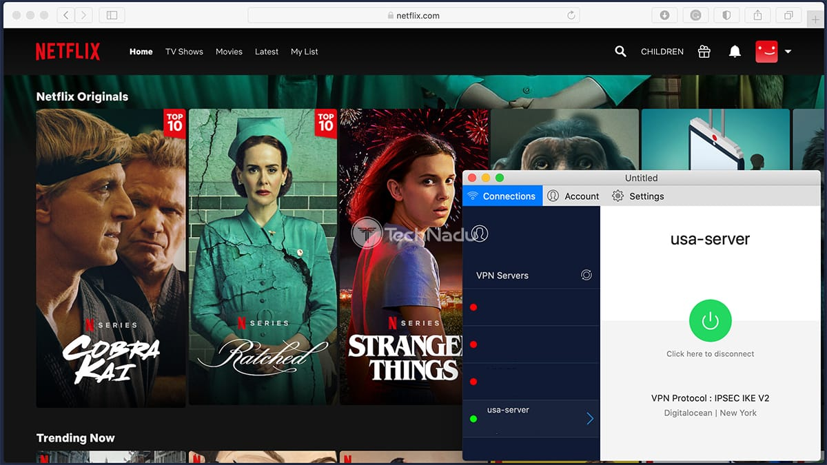 UTunnel Streaming Netflix via USA Server