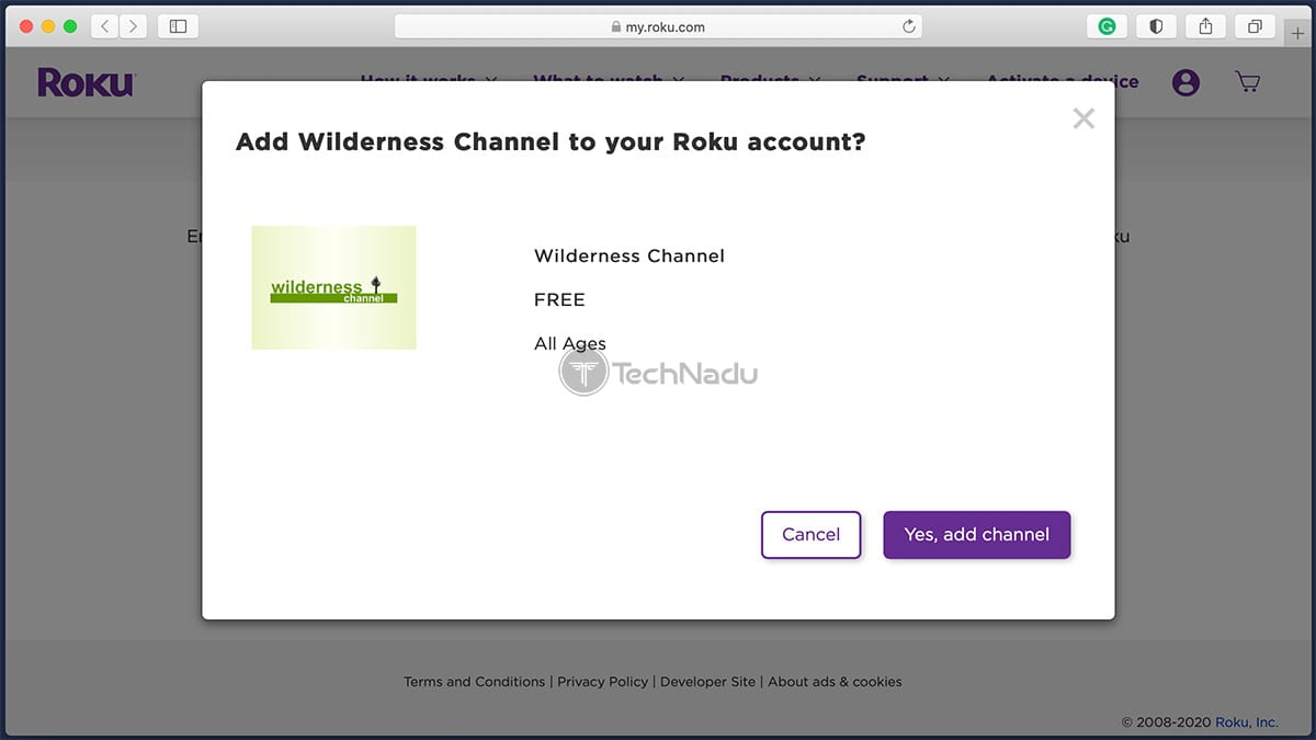 Wilderness Channel Roku