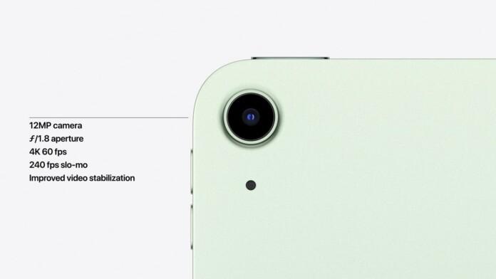 iPad Air 4 Back Camera Specs
