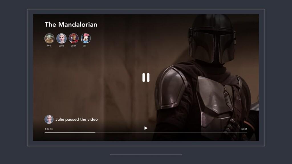 Disney Plus GroupWatch Session Interface