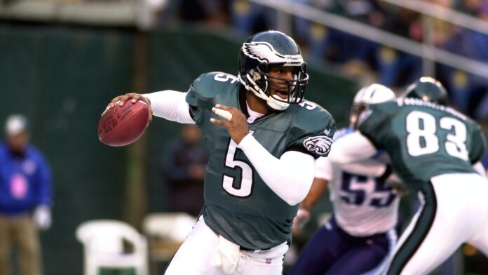 Donvan McNabb Quarterback for the Philadelphia Eagles in game action during a regular season game