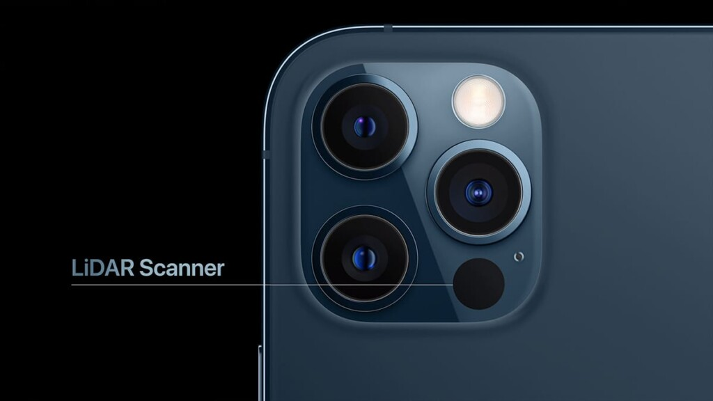 LiDAR Scanner on iPhone 12 Pro