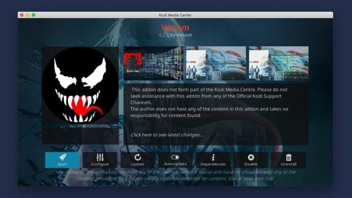 Overview of Venom Kodi Addon