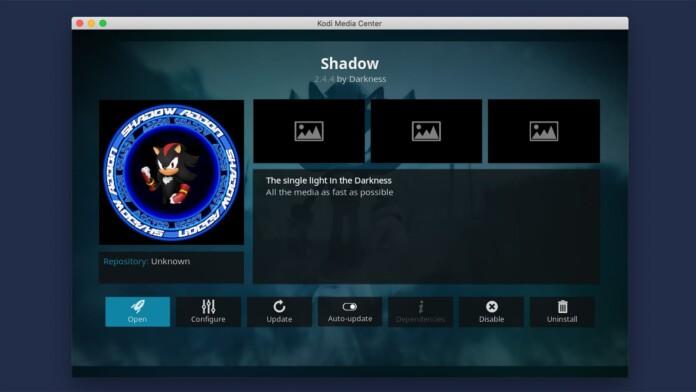 Shadow Kodi Addon Overview