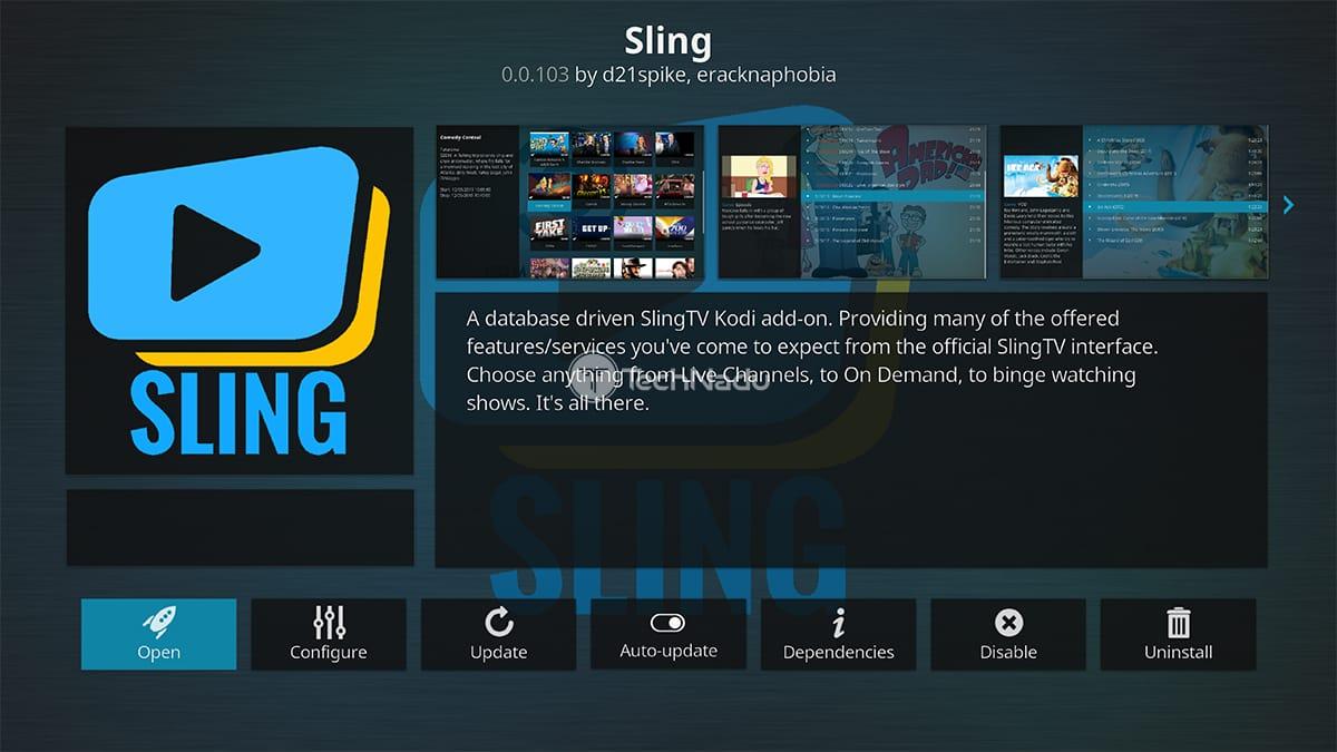 Sling TV Kodi Addon