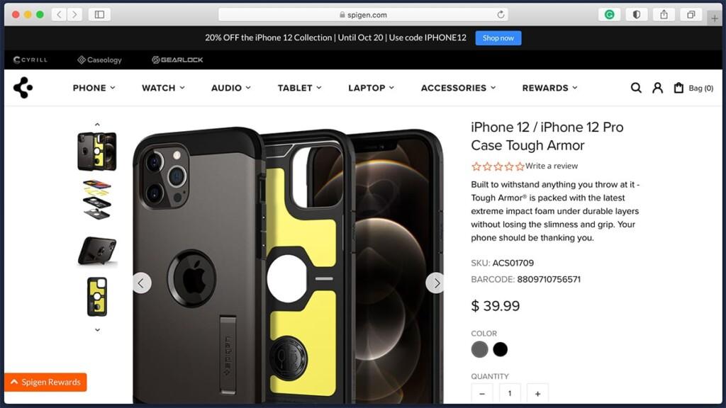 Spigen Rugged iPhone 12 Case