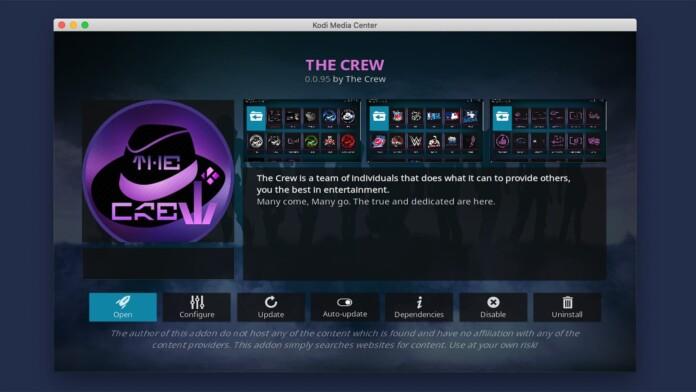 The Crew Kodi Addon Overview