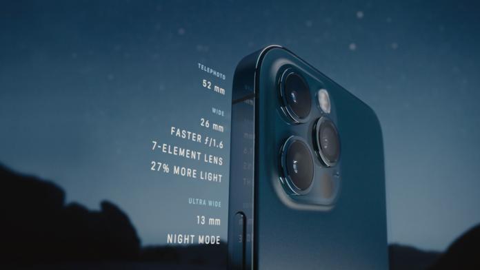 iPhone 12 telephoto camera
