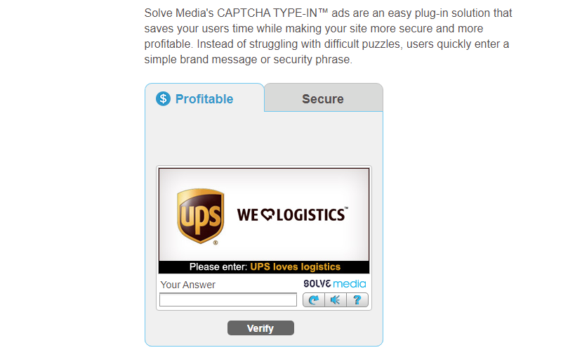 ad-based CAPTCHA services from Solve Media.
