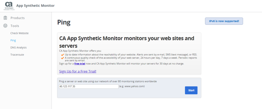 Looking up an ExpressVPN virtual location with CA App Synthetic Monitor