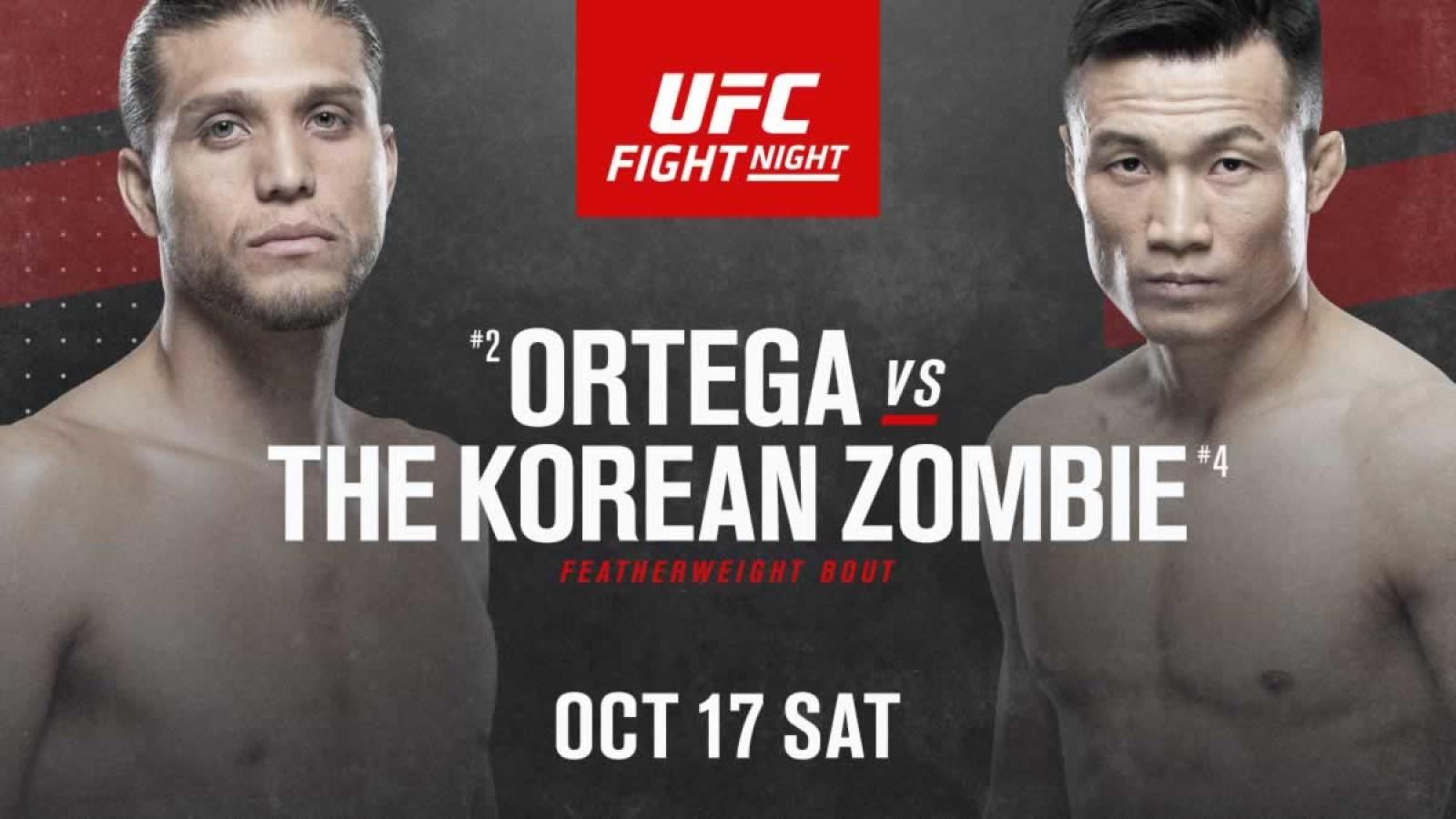 Ufc Fight Night Ortega Vs The Korean Zombie Fight Card How To Watch Technadu
