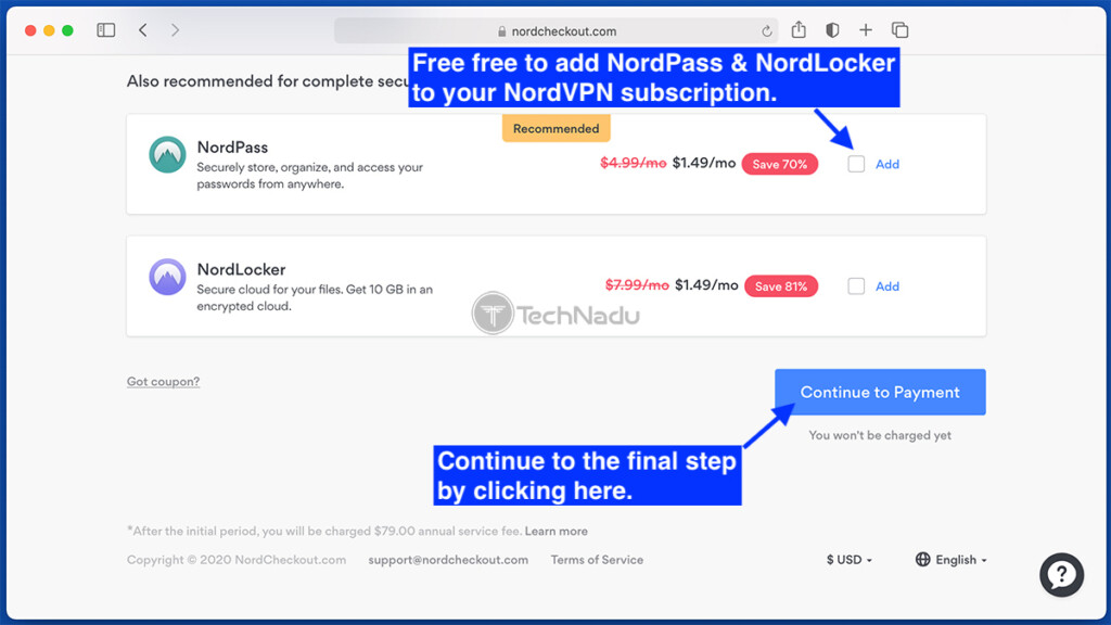 Adding NordPass and NordLocker to NordVPN Subscription