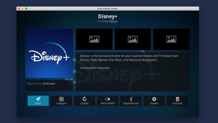 Disney Plus Kodi Addon Overview