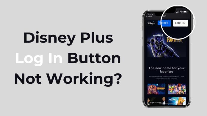 Disney Plus Login Button Not Working