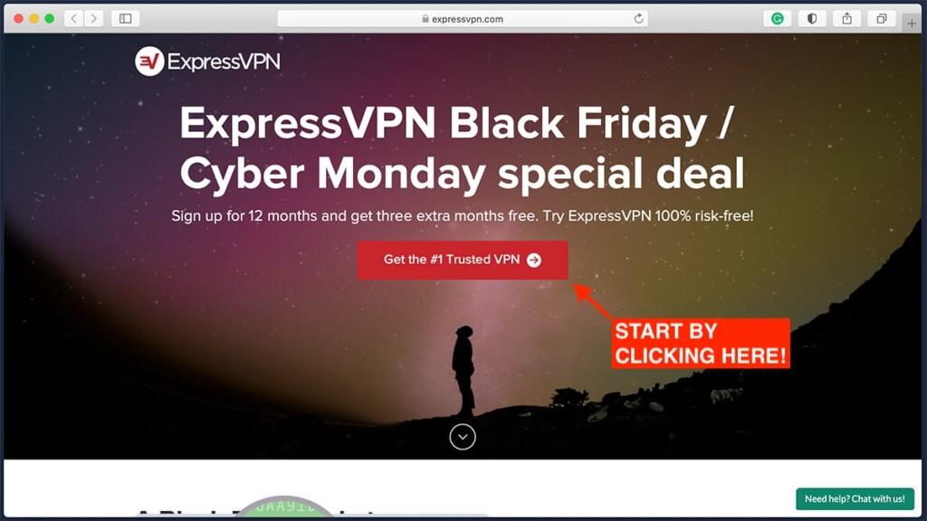ExpressVPN Landing Page for Black Friday Deal