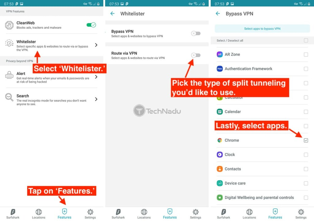 How to Enable Split Tunneling on Surfshark for Android