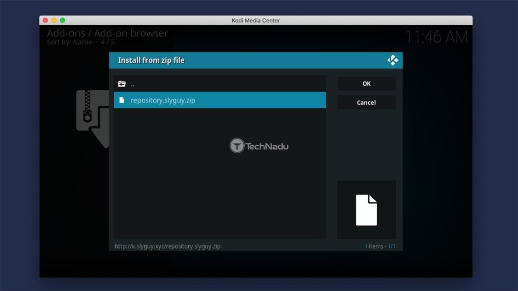 Installing SlyGuy Repository for Kodi Addons