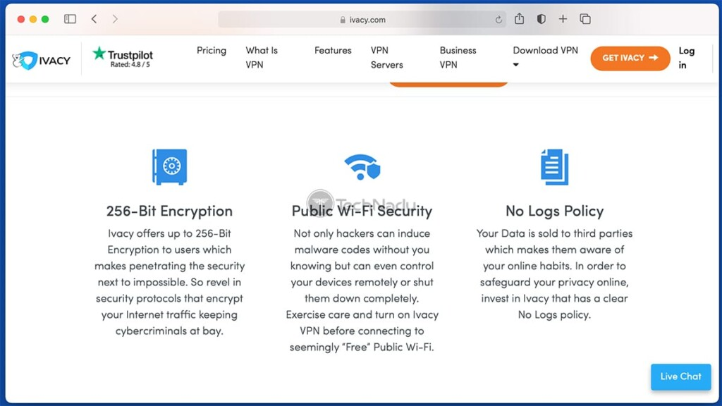 List of Prominent Ivacy VPN Features