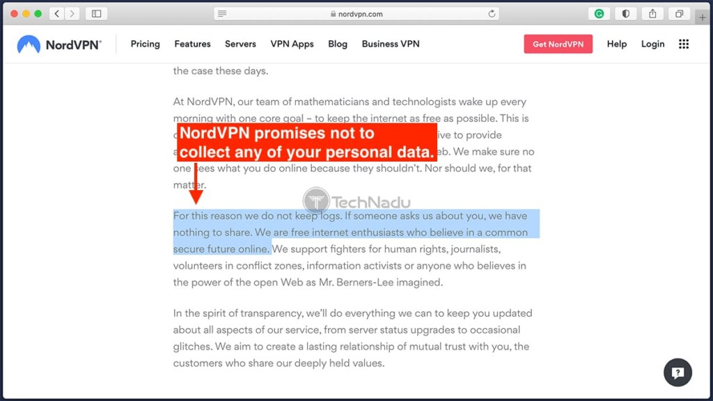 NordVPN Mission Statement on Privacy