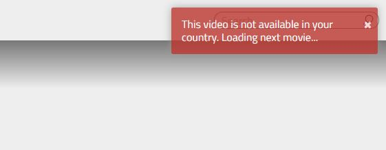 Geo-restriction error message on Popcornflix.