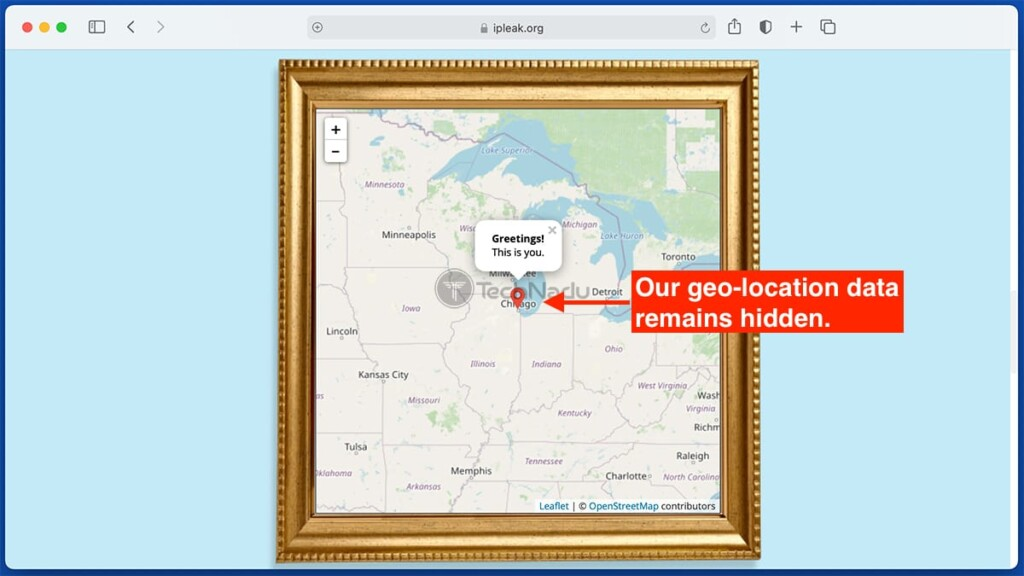 Testing Geolocation Data Leaks for Private Internet Access