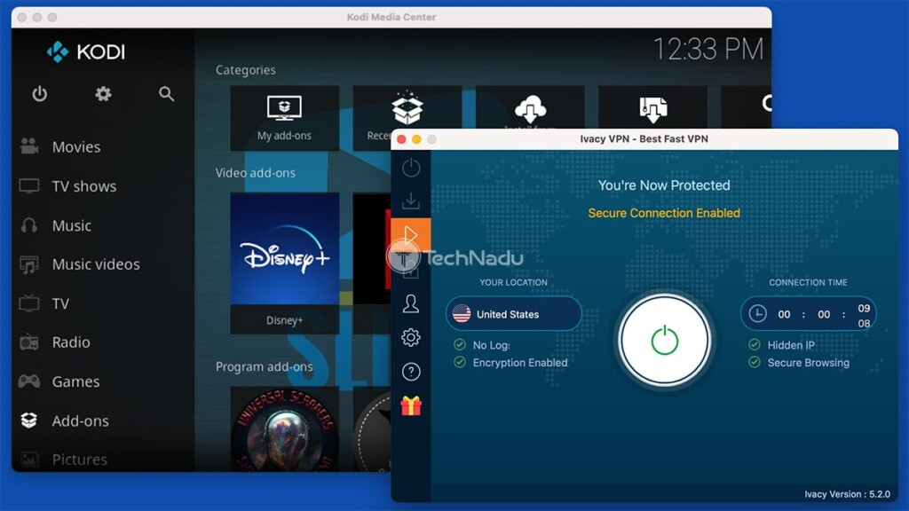 Using Kodi Alongside Ivacy