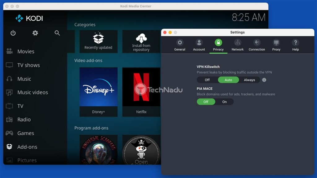 Using Kodi Alongside Private Internet Access
