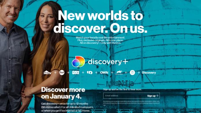 Discovery Plus Verizon