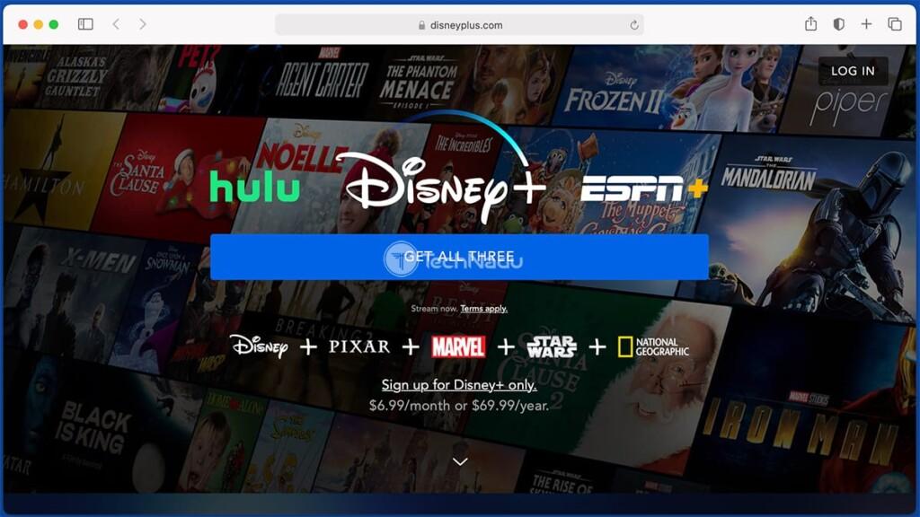 Disney Plus Bundle Landing Page Offer