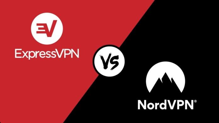 ExpressVPN vs NordVPN Logos